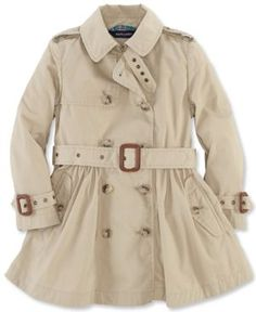 Burberry Baby Girls Grey Wool Coat With Hood Faux Fur Trims ($385 ...