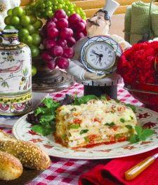 Veggie Lasagna -make with GF noodles.