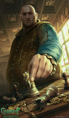 Dijkstra - Gwent Card, Anna Podedworna on ArtStation at https://www.artstation.com/artwork/YqAOq