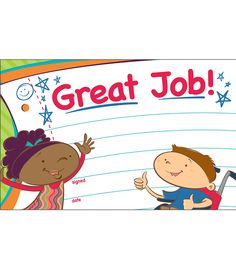 "Carson Kids Recognition Awards- Celebrate a job well done with the spunky Carson Kids Recognition Award. These bright, unique characters are sure to be a hit with your students. Easy to personalize and customize to any occasion and student, this is an award each student will want to earn. Available in packs of 30. Great to have on hand to celebrate students' positive accomplishments and achievements, or for any behavior management program! Each sheet measures 5.5"" x 8 ½""."