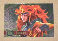 Flair '95 Marvel Annual (Fleer 1995) PowerBlast Card #7 Jean Grey EX