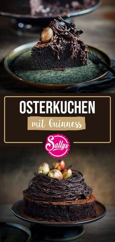GUINNESS CAKE - Loose chocolate cake with Irish Guinness beer or as an alcohol-free variant with malt beer. Guinness Kuchen, Homemade Cake Recipes, Pound Cake Recipes, Beer Recipes, Food Cakes, Chocolate Recipes, Chocolate Cake, Winter Desserts, Junk Food