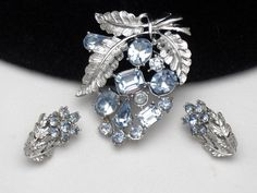 Coro Pegasus Vintage Jewlery Blue Floral Spray Brooch Pin Earrings Set http://www.ebay.com/itm/CORO-PEGASUS-Vintage-Jewlery-Blue-Floral-Spray-Brooch-Pin-Earrings-SET-/181099244180?pt=Vintage_Costume_Jewelry=item2a2a5b2a94