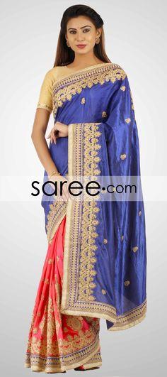 BLUE AND PINK SAMO SILK SAREE WITH ZARI-BY ASOPALAV  #Saree #GeorgetteSarees #IndianSaree #Sarees  #SilkSarees #PartywearSarees #RegularwearSarees #officeWearSarees #WeddingSarees #BuyOnline #OnlieSarees #NetSarees #ChiffonSarees #DesignerSarees #SareeFashion