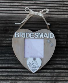 Hey, I found this really awesome Etsy listing at https://www.etsy.com/listing/230600769/bridesmaid-picture-frame-bridesmaid