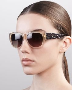 ef6409f1f3ce MARC by Marc Jacobs Leopard-Pattern Square Sunglasses
