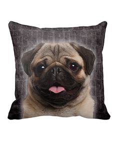 Look at this I Love My Pug Throw Pillow on #zulily today!