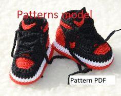 CROCHET PATTERN -Nike Air Jordan 1 Crochet Baby Booties patrón