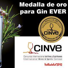 La ginebra GIN EVER : Medalla de oro en CINVE 2012