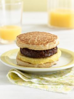 Silver Dollar Pancake Breakfast Sandwiches #myplate