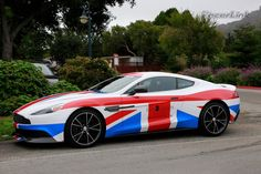 Aston Martin Vanquish in Union Jack Colours