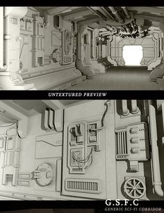 Generic Sci Fi Corridor