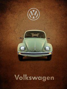 Volkswagen Beetle Print By Mark Rogan