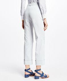 1931acfaf7c Brooks BrothersSeersucker Style · A new take on seersucker  Cropped  Wide-Leg Seersucker Pants in Grey Seersucker Pants