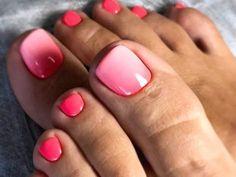 Pretty Toe Nails, Cute Toe Nails, Gel Nails, Pink Toe Nails, Gel Toes, Manicures, Pink Toes, Pedicure Nail Art, French Pedicure