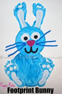Footprint Bunny: Easy Easter Crafts for Kids. Soo cute. #StayCurious