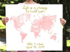 World map guest book wedding sign globe printable instant download world map guestbook travel wedding map map guest book gumiabroncs Images