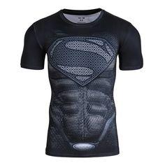 2016Gym Compression Shirt Superman Captain America Punisher Iron man 3D Print T-Shirt Superhero Crossfit Mens Style FashionTops
