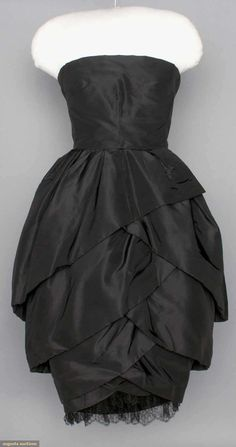 Christian Dior Tulip Dress, 1950s, Augusta Auctions, April 9, 2014 - NYC, Lot 315