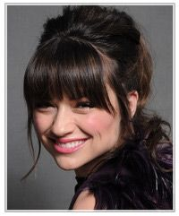 updo with bangs, really good directions