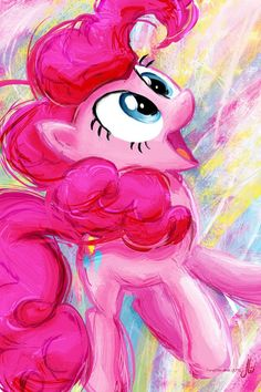 MLP Pinkie Pie oil painting!❤❤❤