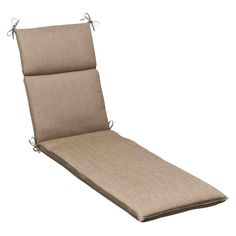 For the Outdoors Pillow Perfect Indoor/Outdoor Sunbrella Chaise Lounge Cushion Color: Tan Textured S