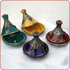 DecorativeSafi taginesadorned with silver and stones.   Measures 4.5