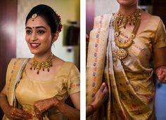 Indian bridal makeup & jewelry  DKreate Photography | Ahmedabad Wedding Photographer | Bride getting ready | Gujarati Wedding | Bridal Portrait | Bridal makeup | Maharani Wedding | Bridal hairstyle | Indian Wedding Inspiration | Bridal jewelry