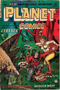 Planet Comics #73 Sci Fi Comics, Horror Comics, Comic Book Plus, Comic Book Covers, Pulp Fiction, Science Fiction, Science Space, Sci Fi Books, Comic Books