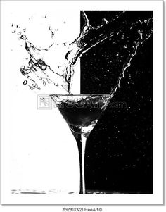 Martini splash on a black-white background. Free art print of Martini splash. Black And White Background, Black White, Big Bottle Of Wine, Free Art Prints, Black And White Photography, Martini, Art Photography, Art Ideas, Illustration Art