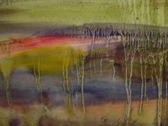 Painting My World: How to Use Oil Paint with Pastels ...Marsh Demo close-up of oil underpainting