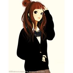 art ❤ liked on Polyvore featuring anime, drawings, anime girls, people, art, doodles and scribble