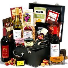 Wine Lover's Suitcase Trio by GourmetGiftBaskets.com