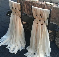 Organza Woven Back Draped Chairs - OMG!