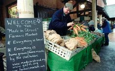 The winner of the 2010 BBC Food and Farming Award for best farmers' market, Stroud's weekly market includes the usual fruit, vegetables, meat and fish, but also sells Thai snacks, beer, wine, cakes and cooked food to eat in the street. An extra vibe is provided by the 'buskers' corner'.