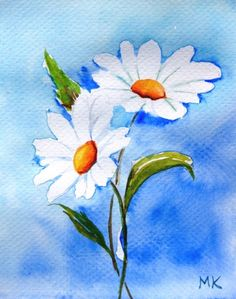 "art paintings gallery for - ""Daisies"" © Meltem Kilic, painting by artist Meltem Kilic""Daisies"" © Meltem Kilic, painting by artist Meltem Kilic Watercolour Painting, Watercolor Flowers, Painting & Drawing, Watercolours, Art Plastique, Painting Inspiration, Daisy, Flower Art, Original Paintings"