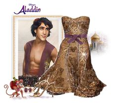 """""""Aladdin"""" by love-n-laughter ❤ liked on Polyvore featuring Disney, Chanel, Eloquii, Prada and LE VIAN"""