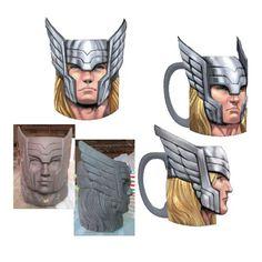 Thor Marvel Molded 16 oz. Mug - Classic Imports - Thor - Mugs at Entertainment Earth