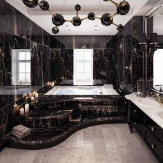 Luxury Bathroom Designs That You Love To Copy - House Interior Ideas bathroomdesigns Dream House Interior, Luxury Homes Dream Houses, Dream Home Design, Home Interior Design, House Design, Modern Mansion Interior, Luxury Interior, Interior Ideas, Dream Bathrooms