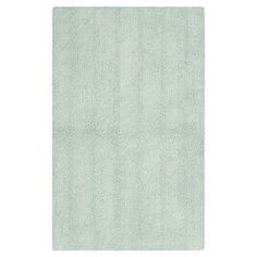 """Refresh your powder room or guest suite with this lovely cotton bath mat in aqua.     Product: Bath matConstruction Material: 100% CottonColor: AquaFeatures:  Hand-wovenMade in IndiaPile Height: 0.5"""""""