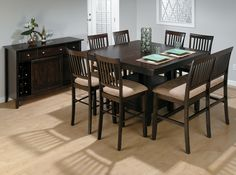 Bakery's Cherry Counter Height Table, Bench, and (6) Stools  by Jofran