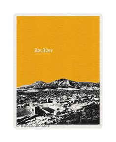 Boulder CO University of Colorado Art Print - 8x10 World Traveler Series Pop Art Skyline Poster Available in 56 Colors - UCO028