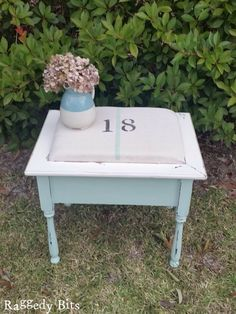This is the first time that I have used a drop cloth in one of my projects and it was SO fun that I decided to make 2 DIY Drop Cloth Projects instead. You may remember the Farmhouse Drawer Caddy that I recently made out of an old dresser drawers and legs? Well one of the projects that I am sharing is the stool that came with it! The other is a door that came off an... #chalkpaint #diy #doorhook