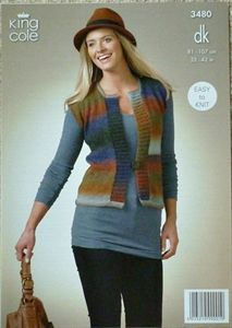 #Knitting Pattern Ladies Edge to Edge Waistcoat Riot DK