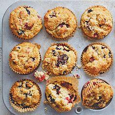 #GlutenFree Fruit of the Forest Muffins   MyRecipes.com