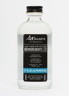 Organic Rosewater + Tea Tree Oil Facial Cleanser
