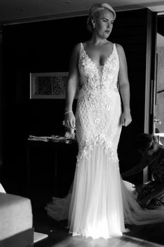 Sleeveless couture plus size bridal gowns like this from Darius Couture can be made with any specific design changes needed.  We are US dress makers who specialize in affordable custom wedding dresses & replicas of couture designer gowns for less.