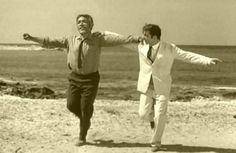Anthony Quinn in Zorba the Greek dancing the Syrtaki or Zorba dance Martin Scorsese, Greek Dancing, Alan Bates, Zorba The Greek, Legacy Projects, Anthony Quinn, Greek Culture, Thing 1, In Kindergarten