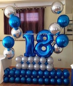 Balloon Number to celebrate an Birthday 16th Birthday Decorations, Balloon Decorations Party, Balloon Centerpieces, Balloon Backdrop, Balloon Columns, Balloon Wall, Boy 16th Birthday, Birthday Parties, 50th Birthday Balloons