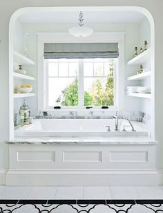 bathroom open shelves - Google Search
